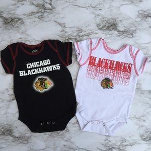 Chicago Blackhawks unisex bodysuits 0-3 mo